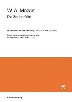 MOZART - Die Zauberflöte - 4 Violins - Sheet Music - di-arezzo.co.uk