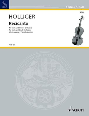 Heinz Holliger - Recicanto - Partition - di-arezzo.fr