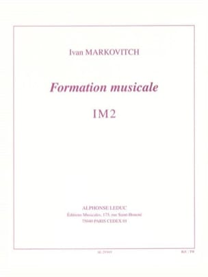Ivan Markovitch - Formation musicale – Im2 - Partition - di-arezzo.fr