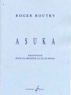 Asuka - Roger Boutry - Partition - Clarinette - laflutedepan.com