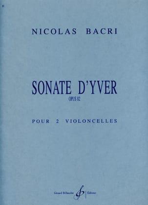 Sonate d' Yver, op. 82 - Nicolas Bacri - Partition - laflutedepan.com