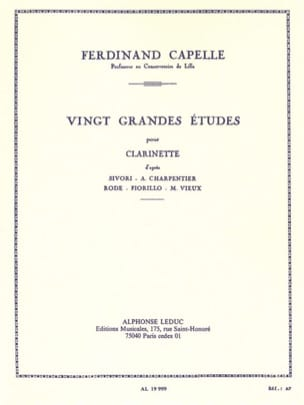 Ferdinand Capelle - 20 Studi principali - Clarinetto - Partitura - di-arezzo.it
