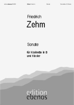 Friedrich Zehm - Sonate - Klarinette Klavier - Partition - di-arezzo.fr