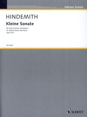 Kleine Sonate op. 25 n° 2 - HINDEMITH - Partition - laflutedepan.com