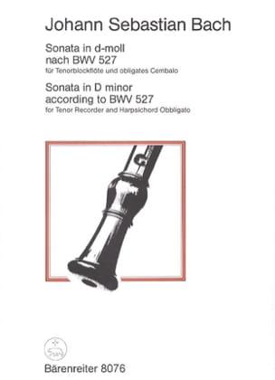 BACH - Sonata D-Moll nach BWV 527 - Tenorblockflöte - Sheet Music - di-arezzo.co.uk