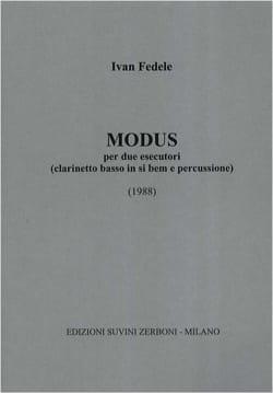 Ivan Fedele - Modus per due esecutori - Partition - di-arezzo.fr