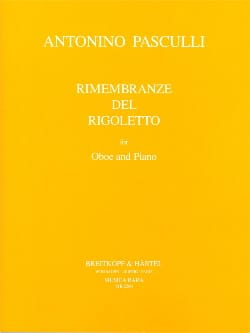 Antonino Pasculli - Rimembranze Del Rigoletto - Sheet Music - di-arezzo.com