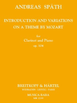 Andreas Späth - Introduction and Variations op. 104 - Partition - di-arezzo.fr