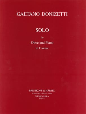 Gaetano Donizetti - Solo in F minor for Oboe and piano - Partition - di-arezzo.fr