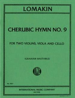 Gabriel Joachimovich Lomakin - Cherubic Hymn n° 9 –String quartet - Score + Parts - Partition - di-arezzo.fr