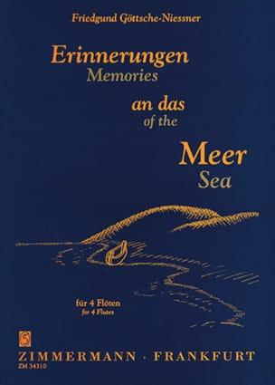Friedgund Göttsche-Niessner - Erinnerungen an das Meer – 4 Flöten - Partition - di-arezzo.fr