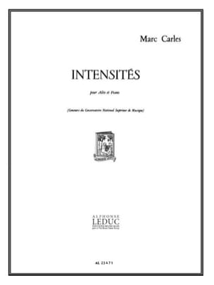 Marc Carles - Intensités - Partition - di-arezzo.fr