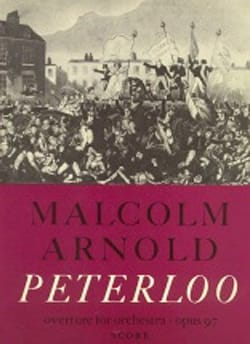 Peterloo op. 97 Malcolm Arnold Partition Grand format - laflutedepan