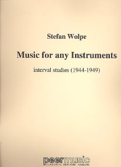Wolpe Stefan - Music for any instruments - Sheet Music - di-arezzo.com