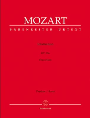 MOZART - Idomeneo - Opening KV 366 - Partitur - Sheet Music - di-arezzo.co.uk