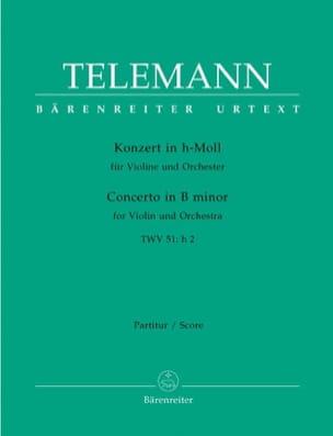 Konzert in h-moll für Violine TWV 51: h2 – Partitur - laflutedepan.com