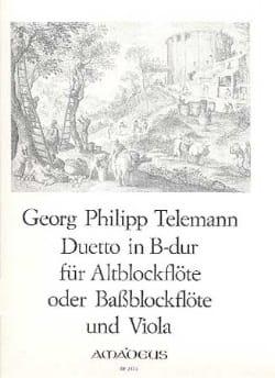 TELEMANN - Duetto B-Dur - Altblockflöte (o. Bass—) u. Viola - Partition - di-arezzo.fr