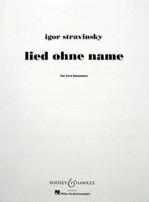 Lied ohne name STRAVINSKY Partition Basson - laflutedepan