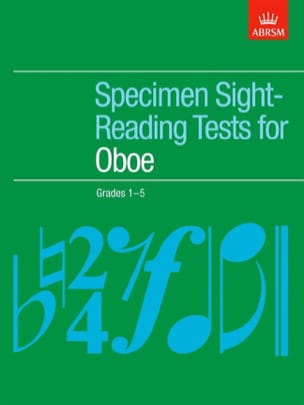 Specimen sight-reading tests Woodwind - Specimen sight-reading tests – Oboe - Partition - di-arezzo.fr