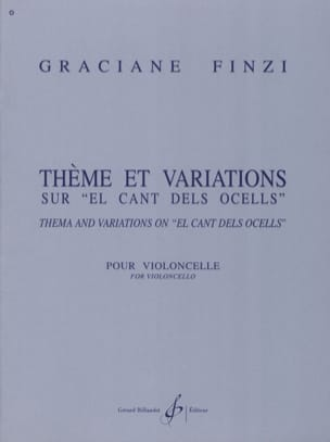 Graciane Finzi - Theme and Variations on El Cant dels Ocells - Sheet Music - di-arezzo.co.uk