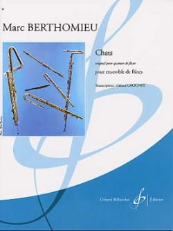 Marc Berthomieu - Cats - Set of flutes - Sheet Music - di-arezzo.co.uk