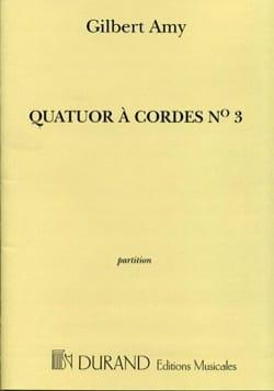Quatuor à Cordes N°3 - Partition Gilbert Amy Partition laflutedepan