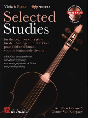 Dezaire Nico / Rompaey Gunter van - Selected Studies Viola - 2 CD Inclus - Partition - di-arezzo.fr