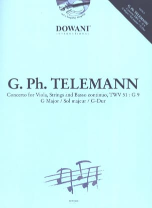 TELEMANN - Concerto Alto TWV 51: G 9, G major - Sheet Music - di-arezzo.co.uk