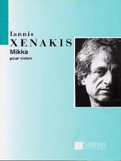 Iannis Xenakis - Mikka - Partition - di-arezzo.fr