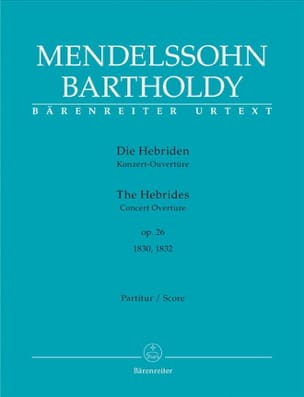 MENDELSSOHN - Die Hebriden op. 26 - Open - Sheet Music - di-arezzo.co.uk