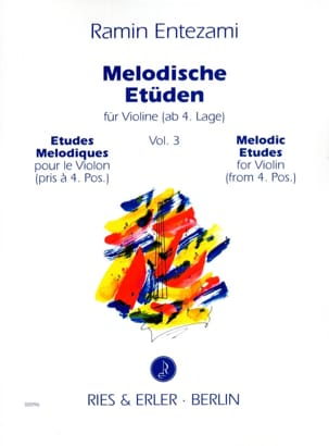 Ramin Entezami - Melodische Etüden Volume 3 - Sheet Music - di-arezzo.co.uk