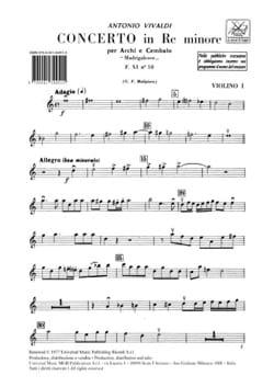 Concerto en ré min. - F. 11 N° 10 Madrilesco - Matériel laflutedepan