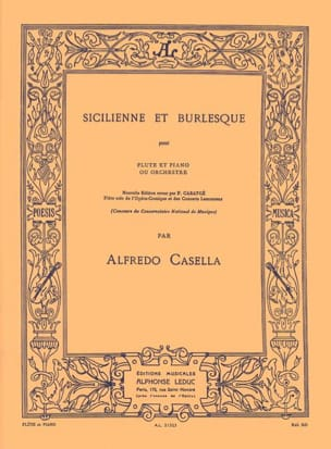 Alfredo Casella - Sicilian and Burlesque - Sheet Music - di-arezzo.com