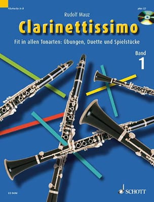 Clarinettissimo, Volume 1 Rudolf Mauz Partition laflutedepan