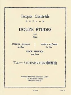 Jacques Castérède - 12 Etudes - Flute - Sheet Music - di-arezzo.co.uk