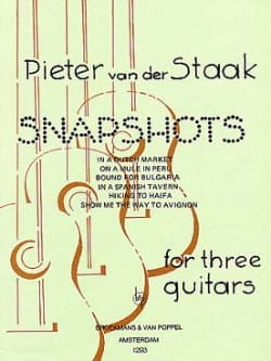 Snapshots - 3 Guitars Peter van der Staak Partition laflutedepan