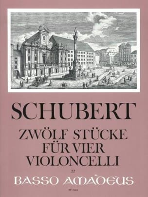 Zwölf Stücke für vier Violoncelli SCHUBERT Partition laflutedepan