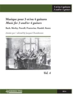 (Chandonnet) Anthology - Music For 3-4 Guitars, Volume 4 - Sheet Music - di-arezzo.com