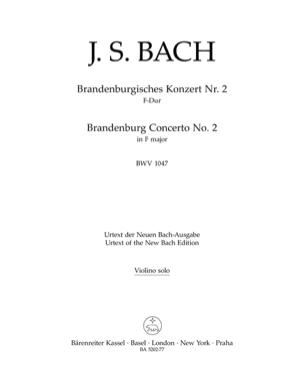 Johann Sebastian Bach - Brandenburgisches Konzert Nr. 2 F-Dur BWV 1047 - Partition - di-arezzo.fr