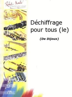 Déchiffrage pour tous - Marc Dijoux - Partition - laflutedepan.com