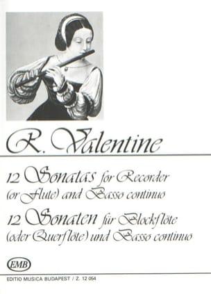 12 Sonaten - Robert Valentine - Partition - laflutedepan.com