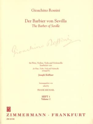 Gioacchino Küffner Rossini - The Barber of Seville Volume 1 - Flute Violine Viola Cello - Sheet Music - di-arezzo.com