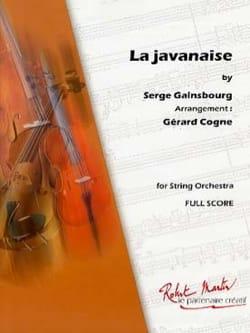 La Javanaise - Gainsbourg - Partition - laflutedepan.com
