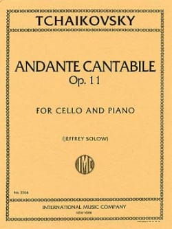 TCHAIKOVSKY - Andante Cantabile op. 11 - Partition - di-arezzo.fr