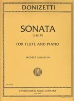 Gaetano Donizetti - Sonata (1819) – Flute piano - Partition - di-arezzo.fr