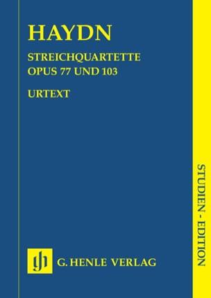 Streichquartette op. 77 u. 103 -Partitur HAYDN Partition laflutedepan