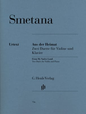 Bedrich Smetana - From the native country - Two duets for violin and piano - Sheet Music - di-arezzo.co.uk