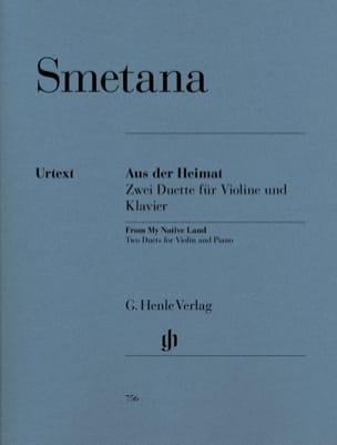 Du pays natal - Deux duos pour violon et piano SMETANA laflutedepan