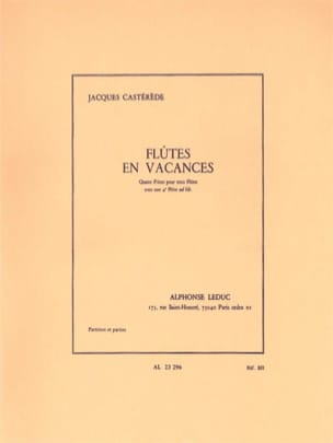 Jacques Castérède - Flutes on Holidays - Sheet Music - di-arezzo.co.uk