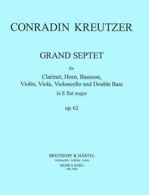Conradin Kreutzer - Grand Septet Op. 62 - Partition - di-arezzo.fr
